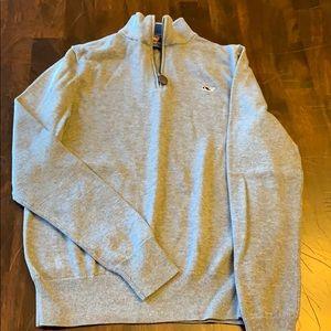 Vineyard vines kids classic zip mock neck sweater